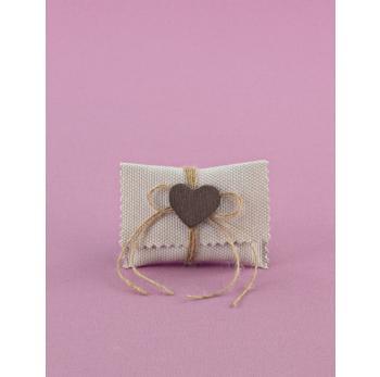 Μπομπονιέρα Γάμου Φακελάκι Μικρό με Καρδούλα