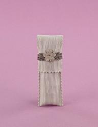 Μπομπονιέρα Γάμου Φάκελος Κάθετος Στενός με Πλεκτό Δέσιμο