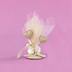 Επιτραπέζιο Διακοσμητικό με Αρωματικές Καρδιές για Μπομπονιέρα Γάμου