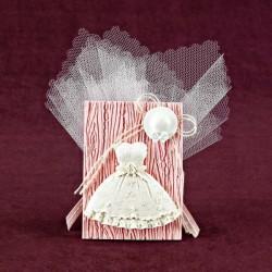 Μπομπονιέρα Βάπτισης Αρωματική Κορνίζα με Φορεματάκι