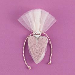 Αρωματική Μπομπονιέρα Γάμου Καρδιά Ακρυλική