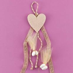 Κρεμαστή Αρωματική Καρδιά για Μπομπονιέρα Γάμου