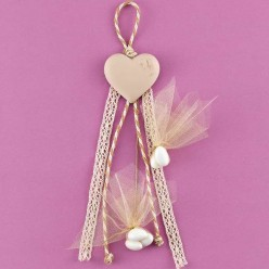 Κρεμαστή Ακρυλική Καρδιά για Μπομπονιέρα Γάμου