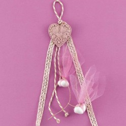 Μπομπονιέρα Γάμου Κρεμαστή Αρωματική Καρδιά