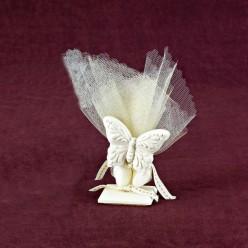 Επιτραπέζιο Διακοσμητικό με Πεταλούδα για Μπομπονιέρα Βάπτισης