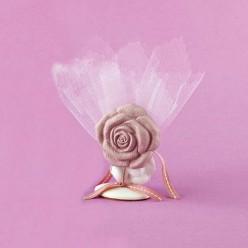 Επιτραπέζιο Διακοσμητικό με Λουλούδι για Μπομπονιέρα Γάμου