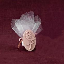 Βαπτιστική Μπομπονιέρα Ακρυλική Κορνίζα με Φλαμίνγκο