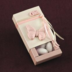 Γυαλιστερό Κουτάκι με Αρωματική Ακρυλική Πεταλούδα για Μπομπονιέρα Γάμου