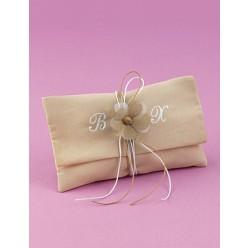 Μπομπονιέρα Γάμου Φάκελος Βαμβακερός με Μονογράμματα