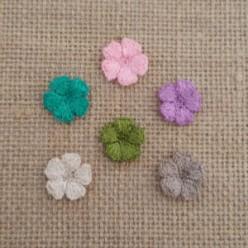 Πλεκτά Χρωματιστά Λουλουδάκια Νο4